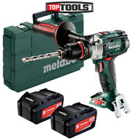 Metabo SB18LTX 18V Impuls Combi Hammer Drill With 2 x 5.2Ah Batteries & Case