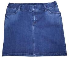 GAP MATERNITY Blue Faded Denim Stretchy Adjustable Waist Mini Skirt SIZE 10