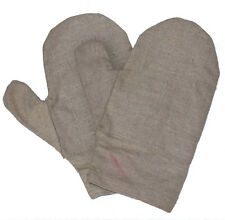 Ex-Army Heat Resistant Gloves Thick Linen Canvas & Cotton Lining Retro Vintage