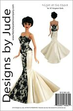 """Opera Skirt & Bustier Doll Clothes Sewing Pattern for 16"""" Kingdom Doll"""