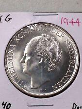 1944 DUTCH 2 1/2 G SILVER COIN