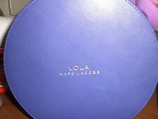 LOLA MARC JACOBS ROUND PURPLE IRRESISTIBLE LUXE CASE JEWELRY/MAKEUP CASE