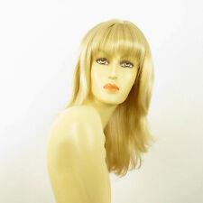 Perruque femme mi-longue blond doré méché blond très clair  GLADIS 24BT613