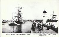 Sussex Postcard - Steam and Sail at Littlehampton c1905  - A6199