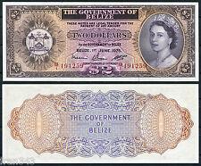 BELICE BELIZE  2 dólares 1975  Pick 34 b SC / UNC