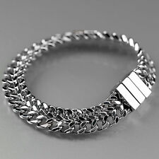 Stainless Steel Bracelet silver chain 21cm Sydney stock free shipping within Au