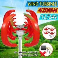 4200W 4 Lames Automatique Lanterne Vent Turbine Générateur Vertical Axes Bateau