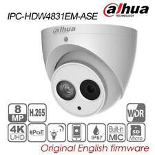 Dahua 4K UHD 8MP Eyeball IP Camera 4mm H265 POE IR IP67 MIC TF IPC-HDW4831EM-ASE