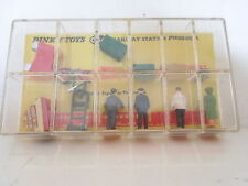 GB DINKY 054  RAILWAY STATION FIGURES MINT UNCOMMON SET PEU COURANTNEUF  L@@K