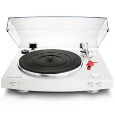 Audio-Technica AT-LP3 Fully Automatic Belt-Drive Stereo Turntable in White