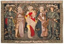 """L'HOMMAGE AUX FEMMES 57"""" X 36"""" LINED BELGIAN TAPESTRY WALL HANGING + ROD SLEEVE"""