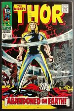 MIGHTY THOR #145 SHARP VF THOR EXILED TO EARTH,RINGMASTER +HOGUN THE GRIM BACKUP