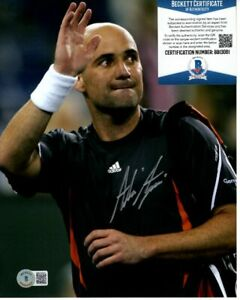 ANDRE AGASSI signed TENNIS 8x10 photo Beckett BAS