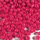 cuentas de rocalla de vidrio Opaco 2mm Rojo Fucsia 20g (12/0)