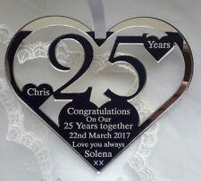 SILVER WEDDING ANNIVERSARY KEEPSAKE GIFT, PERSONALISED 25 YEARS
