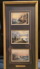 "Three Framed Thomas Kinkade Lighthouse Prints ""Seaside Memories"" Coa"