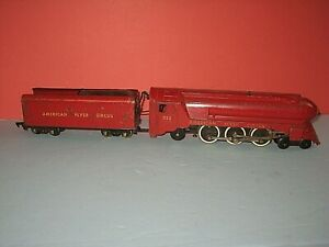 1950 American Flyer: 353 CIRCUS Engine & Tender. SL 4-6-2, runs.Tender ruff C-5