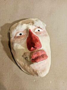 Vintage Soviet carnival mask. Handmade. Papier mache. 1960s. 2 . SN