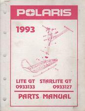 1993 POLARIS SNOWMOBILE LITE GT & STARLITE GT PARTS MANUAL 9912323 (135)