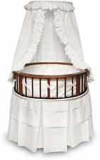 Round Baby Bassinet Crib Portable Cradle Infant Nursery Stroller Carriage  NEW