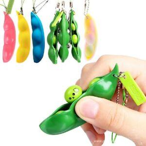 pop it pop  Squeeze Peas Beans Fidget Toys Decompression Edamame Toys Squishy