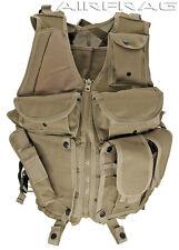 Tan 903 Mesh Tactical Vest w/ Gun Holster & 6 Front Pockets