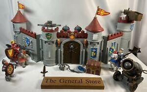 Vintage Keenway Knights Castle Bundle - Medieval Siege - Cannon Crossbow Horses