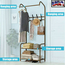 Clothing Holder Hanger Coat Rack Landing Floor Standing Organizer Storage Shelf