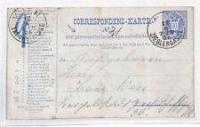 BH113 1886 AUSTRIA Vienna Zieglergasse Taborstrasse PNEUMATIC Post Stationery