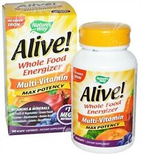 Alive Multi-Vitamin & Mineral with No-Added Iron x90Vcaps - WHOLE FOOD VITAMIN!
