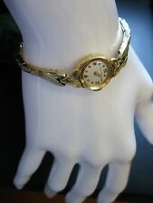 14k Yellow Gold White Face Longines Ladies Vintage Wind Up Watch