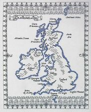 British Isles Map Blackwork Cross Stitch Kit - DMC Code K3772 (35.5 x 43.5cm)