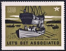 """Let's Get Associated #135 """"Gray Discovers Gray's Harbor"""" Mnh"""
