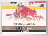 13-14 Upper Deck Petr Mrazek UD Canvas Young Guns Rookie Hurricanes 2013