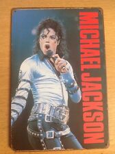 Metallo Michael Jackson. foto, segno. 20x30cm. Vintage Cattivo