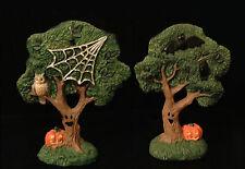 Creepy Hollow* 2 Trees - Bats and Spiderweb*New w/o Box