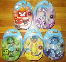 "Disney Pixar INSIDE OUT 4"" LIGHT UP FIGURE SET 5 JOY FEAR DISGUST SADNESS ANGER"