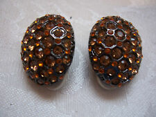 JOAN RIVERS Shades Of Simulated Golden Topaz Clip Earrings
