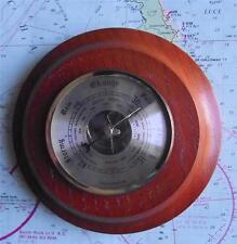 VINTAGE weathermaster Precision ANEROID IN OTTONE E LEGNO BAROMETRO IN OTTONE