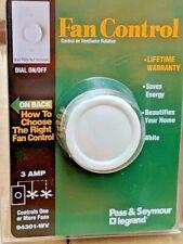Legrand 94301WV Rotary Fan Speed Control 3-Amp ~ Pass & Seymour