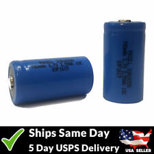 2 x ICR 18350 700mAh Rechargeable High Drain Button Top 3.7V Battery Batteries