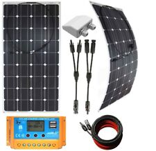 200w 240w to 300w Flex Solar Panels +20A LCD Charger /w USB + cables + inlet kit