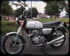 Honda Cb350F 74 A4 Metal Sign Motorbike Vintage Aged