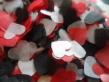 2000 Red, Black & White Hearts/Wedding/Celebration Confetti Decoration/Bio