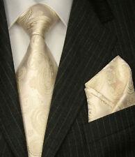 Cravates, nœuds papillon et foulards beige pour homme en 100% soie