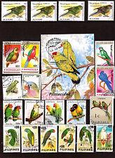 TOUS PAYS  Les oiseaux: Perroquets  et perruches de diverses espéces C196