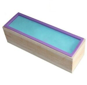 Rectangle Silicone Soap DIY Mold with Wooden Box Candle Soap Mould 1.2kg Soap