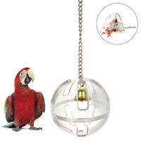 Parrots Ball  Food Feeder Hanging Cage Birds Bell Foraging Chain For Treats