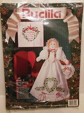 VTG Bucilla Christmas Doll & Pillow Embroidery Kit Personalized NICOLE NIP Gift