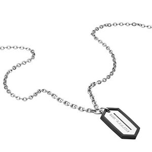 +BRAND NEW DIESEL MENS BLADE ICONIC DOG TAG NECKLACE CHAIN DX0996040 RRP £129